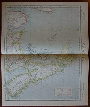 Nova Scotia Prince Edward Island New Brunswick Canada c.1880 Letts scarce map