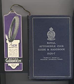 Royal Automobile Club Guide & Handbook. 1926-7