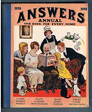 Answers Annual. 1926.The Book For Every Home. Games Hobbies Models Plays Careers How0To-Make Magi...