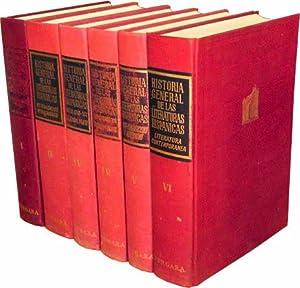 HISTORIA GENERAL DE LAS LITERATURAS HISPANICAS. Tomos I, II, IV 1ª parte, IV 2ª parte, V ...