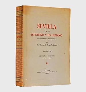 SEVILLA ENTRE LO DIVINO Y LO HUMANO. Exegesis y defensa de las cofradias. (1ª Edicion / ...