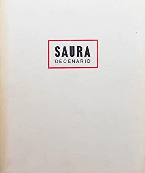 SAURA. DECENARIO. 1980-1990. (Con firma y dibujo original de la mano de Saura): SAURA, Antonio