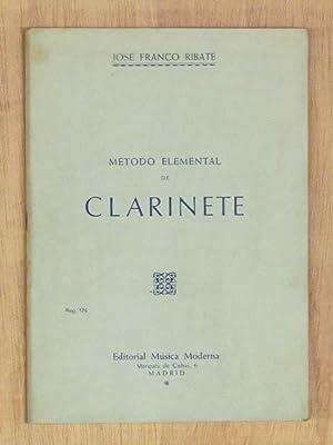 METODO ELEMENTAL DE CLARINETE. (Edición de 1974: FRANCO RIBATE, Jose