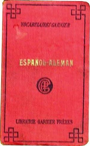 VOCABULAIRES GARNIER. ESPAÑOL-ALEMAN (diccionario): ENENKEL, Arturo