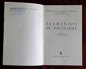 ELEMENTOS DE PSICOLOGIA: KRECH, David. CRUTCHFIELD,