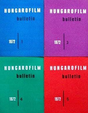 HUNGAROFILM Bulletin 1972 (4 numeros, 1-3-4-5) (Texte en françcais)