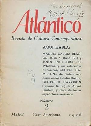 ATLANTICO. Revista de cultura contemporanea. Numero 2.: GARCIA BLANCO, Manuel.
