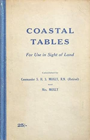 COASTAL TABLES for use in sight of land. (1963; Excelent condition): Comander S.H.S. MOXLY, R. N. ...