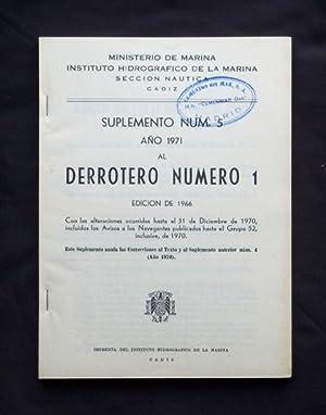 DERROTERO DE LA COSTA NORTE DE ESPAÑA desde el Rio Bidasoa hasta la Estaca de Bares, 1966 + ...