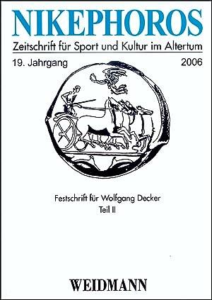 Nikephoros - Zeitschrift für Sport und Kultur: Decker, Wolfgang, Weiler,