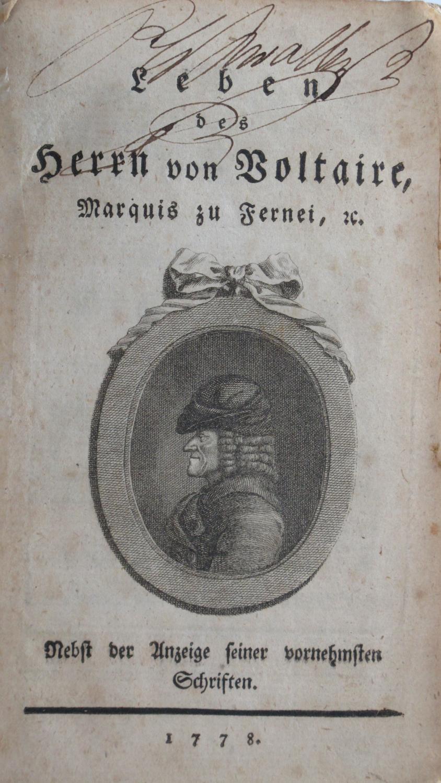 Leben des Herrn Voltaire, Marquis zu Fernei: Théophile Imarigeon Duvernet