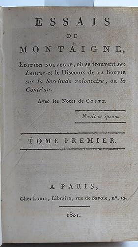 Essais de Montaigne, Edition nouvelle, où se: Michel Eyquem de