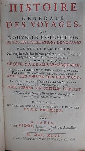 Histoire générale des voyages, ou nouvelle collection: Antoine-François Prévost d¿Exiles