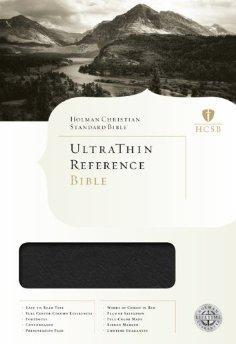 HCSB Ultrathin Reference Bible, Mantova Black LeatherTouch