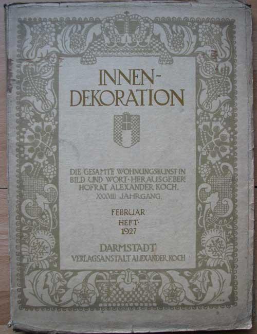 Innen dekoration zeitschrift fuer von koch zvab for Dekoration innen