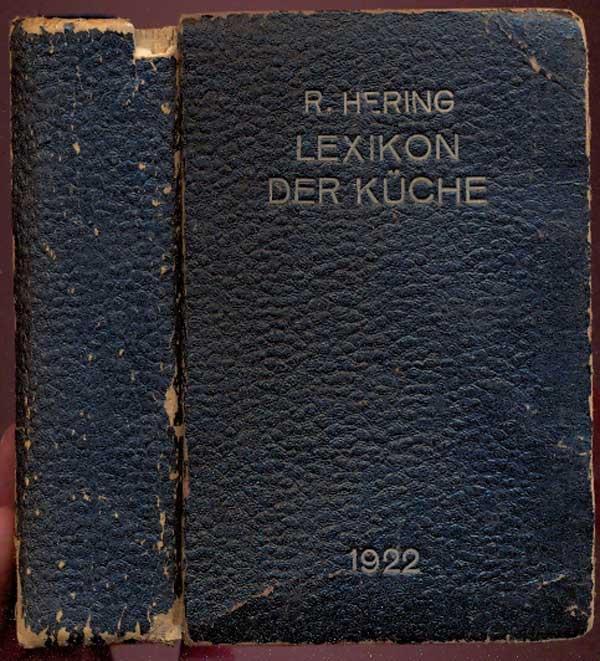 Herings Lexikon Der Küche   Lexikon Der Kueche Von Richard Hering Zvab