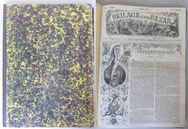 Beilage zum Bazar. XVIII. Jahrgang, 1872, Nrn.: Heigel, Karl August