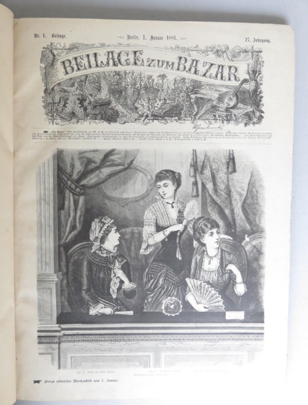 Beilage zum Bazar 27. Jahrgang, 1881, Nrn.: Lenz, Ludwig (ed.)