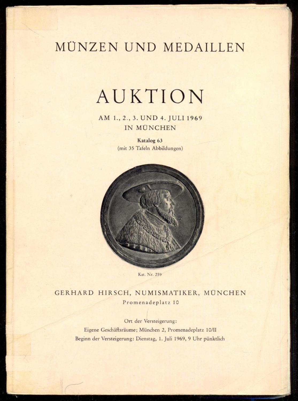 Münzen Und Medaillen Auktion Am 1 2 3 Und 4 Juli 1969 Münzen