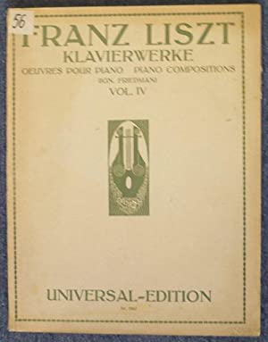 Klavierwerke. Oeuvres pour piano. Piano compositions. Vol. IV. (Ing. Friedman). Nr. 5942