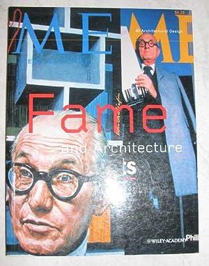 Fame + Architecture (Architectural Design): Chance, Julia &
