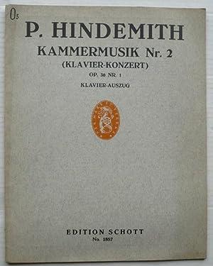 Kammermusik Nr. 2 (Klavier-Konzert) op. 36, Nr.