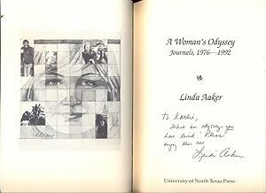 A Woman's Odyssey. Journals, 1976-1992 [Mit Verfasserwidmung auf dem Titelblatt]: Aaker, Linda