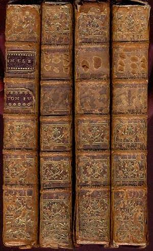 Emile ou de l'education. 4 Bände. Mit: Rousseau, Jean Jacques