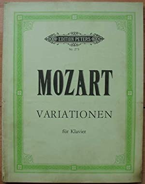 Variationen für Klavier. Edition Peters Nr. 273 Nachdruck
