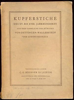 Kupferstiche des XV. bis XVIII. Jahrhunderts aus