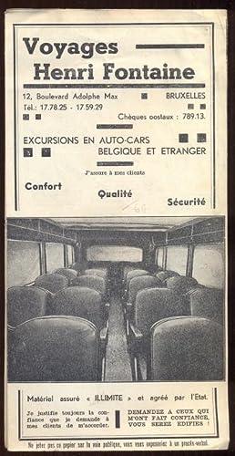 Voyages Henri Fontaine. Excursions en Auto-Cars Belgique