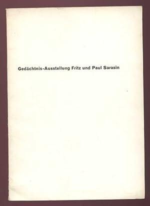 Gedächtnis-Austellung Fritz und Paul Sarasin. Führer durch
