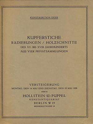 Kupferstiche Radierungen / Schabkunstblätter Holzschnitte des XV.