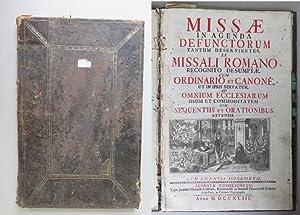 Missae in agenda defunctorum, tantum deservientes, ex