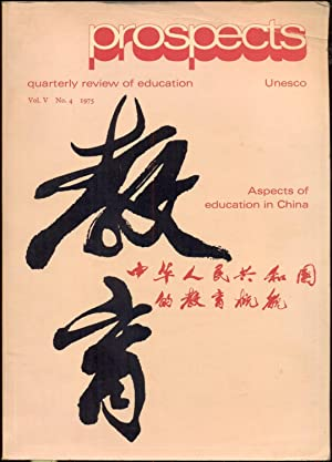 Prospects: quaterly review of education, Vol. V,: Morsy, Zaghloul (ed.)