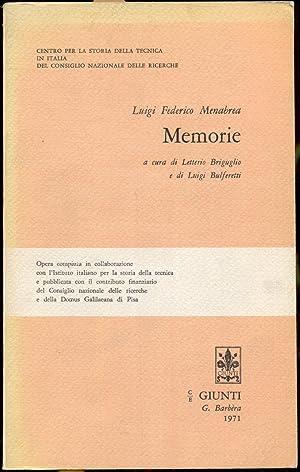 Memorie a cura di Letterio Briguglio e: Menabrea, Luigi Federico