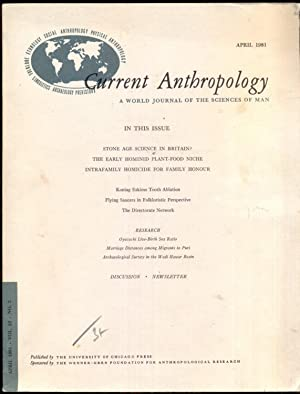 Current Anthropology: A World Journal of the: Belshaw, Cyril S.