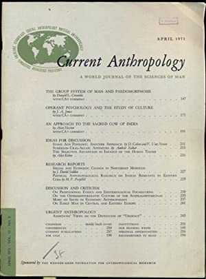 Current Anthropology: A World Journal of the: Tax, Sol (ed.)