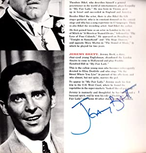 My Fair Lady - SIGNED by Rex Harrison and Jeremy Brett: Lerner and Lowe (after George Bernard Shaw)