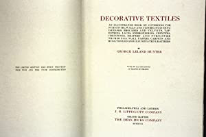 Decorative Textiles - Limited Edition - in original BOX - with 580 Illustrations, 27 Plates in ...