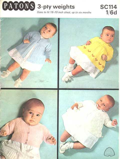 Patons 3 Ply Sc114 Baby Knitting Pattern By Patons Patons
