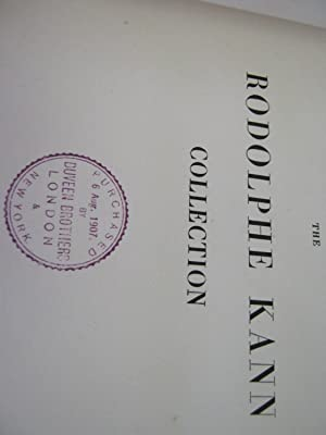 Catalogue of The Rodolphe Kann Collection Pictures Vol. I & II