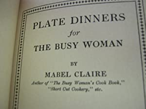 Plate Dinners for Busy Woman