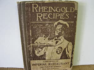 Rheingold Recipes a Cook Book of Quality