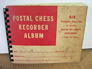 Postal Chess Recorder Album Six Complete Chess Sets for Recording Move By Move Positions in Posta...
