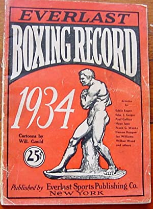 Everlast Boxing Record 1934: Romano, John J. Cartoons by Will Gould