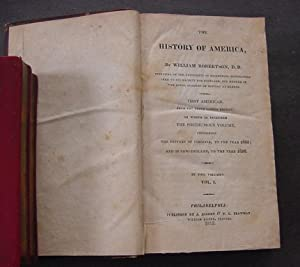 The History of America, Volume One (1): Robertson, William