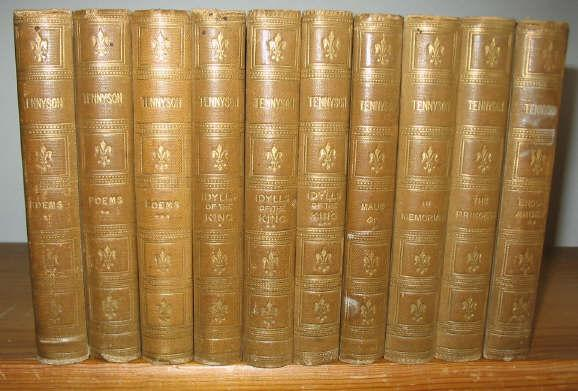 The Works of Alfred Tennyson Poet Laureate 10 volumes Tennyson, Alfred Very Good Hardcover