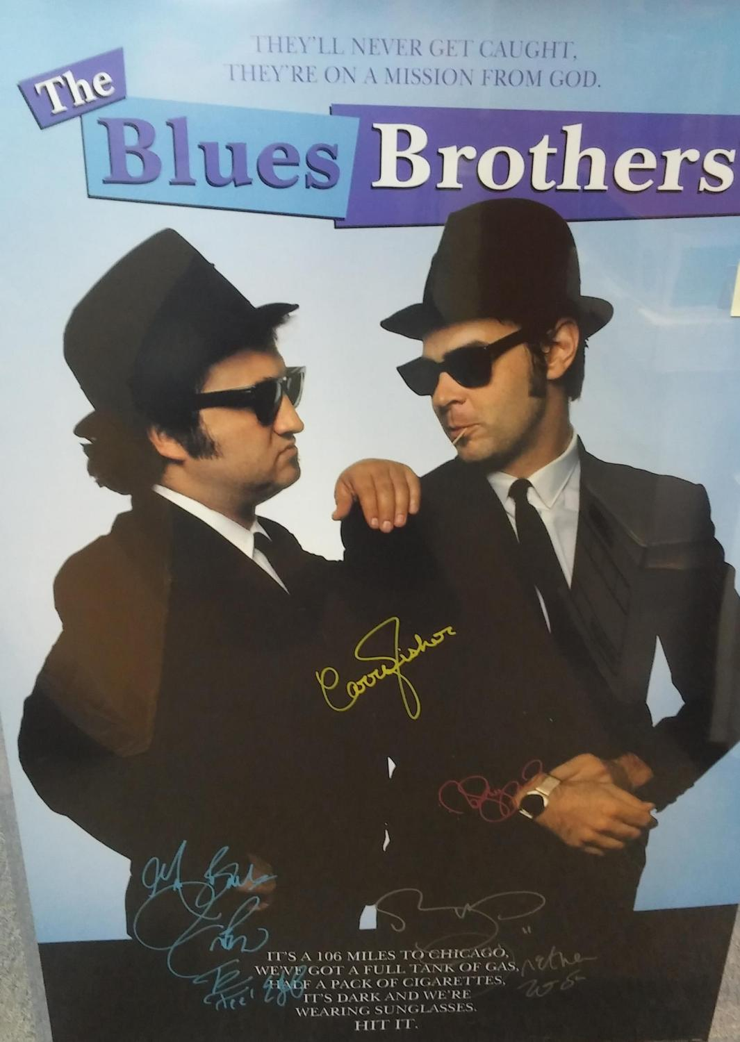 FULL SIZE MOVIE POSTER 'THE BLUES BROTHERS', *SIGNED* BY CAST (REPRINT POSTER), n/a