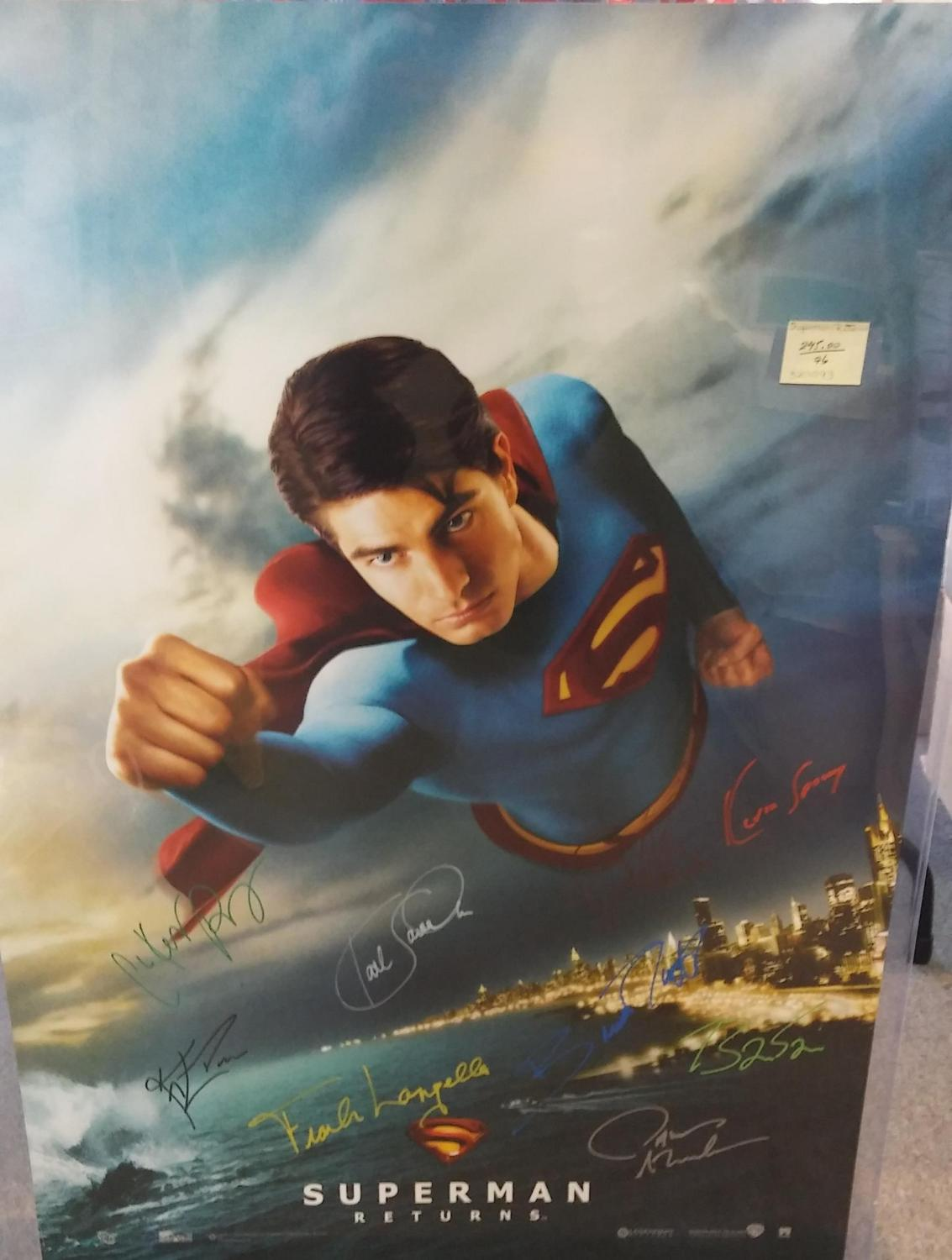 FULL SIZE MOVIE POSTER 'SUPERMAN RETURNS', *SIGNED* BY CAST (ORIGINAL POSTER), n/a